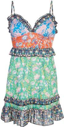 Cynthia Rowley Charlotte Patchwork Mini Dress