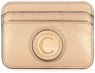 Chloé Gold Logo Card Holder