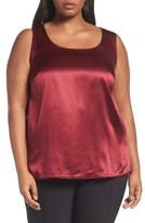 Lafayette 148 New York Plus Size Women's Cleo Silk Charmeuse Shell