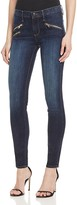 Black Orchid Billie Zip Skinny Jeans in Thunder