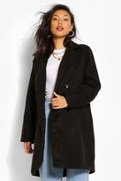 Thumbnail for your product : boohoo Double Breasted Wool Look Coat