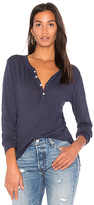 NSF Baylor Henley Tee in Navy. - size L (also in M,S,XS)