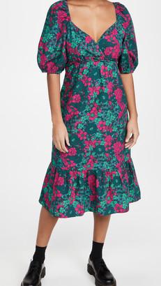 Rahi Puff Sleeve Midi Dress
