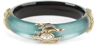 Alexis Bittar Navette Crystal Spiked Hinge Bracelet