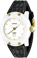 Glam Rock Women's Miami Beach 40mm Black Silicone Band Polycarbonate Case Quartz White Dial Watch GR2303