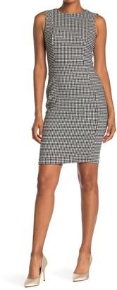 Calvin Klein Check Print Sleeveless Sheath Dress