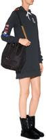 Anna Sui Cotton Nouvelle Vague Hoodie Dress in Black