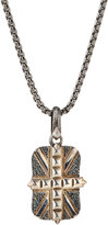 Stephen Webster Men's Studded Union Jack Dog Tag Necklace