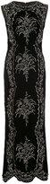 Oscar de la Renta crystal embellished long dress