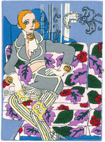 Olympia Le-Tan portrait book clutch