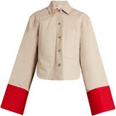 Palmer Harding PALMER/HARDING Contrast-cuffs cotton-twill jacket