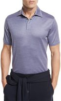 Ermenegildo Zegna Textured Polo Shirt, Light Purple