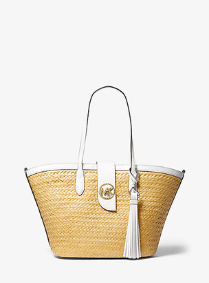 Michael Kors Malibu Large Straw Tote Bag