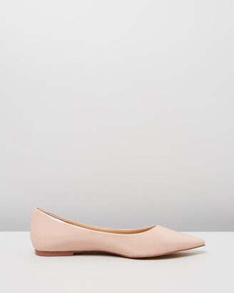 Atmos & Here Atmos&Here - Women's Pink Ballet Flats - Kate Leather Flats - Size 6 at The Iconic