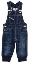 Diesel Blue Denim Dungarees with Knee Patches