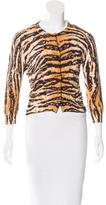 Dolce & Gabbana Tiger Printed Cardigan