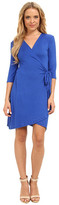 Christin Michaels Mollie 3/4 Sleeve Wrap Dress