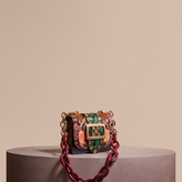Burberry The Mini Square Buckle Bag in Snakeskin and Velvet