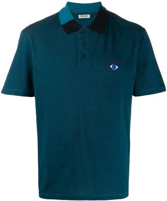 Kenzo block-panel short sleeved polo shirt