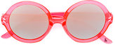 Stella McCartney mirrored round sunglasses