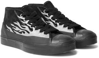 Converse + A$ap Nast Jack Purcell Metallic Printed Corduroy And Rubber Sneakers