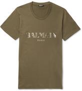 Balmain Metallic Printed Cotton-Jersey T-Shirt