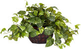 Asstd National Brand Nearly Natural Pothos With Decorative Vase Silk Plant
