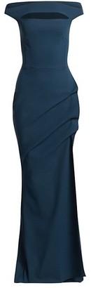 Chiara Boni Melania Off-The-Shoulder Cutout Sheath Dress