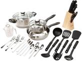 Gibson Lybra 32-Piece Stainless Steel Cookware Set with Lids