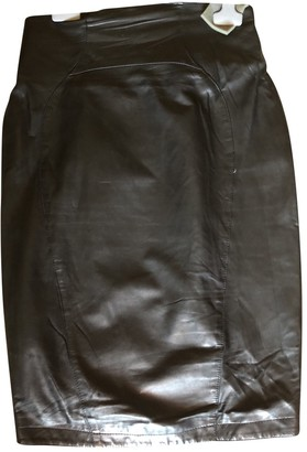Thierry Mugler Black Leather Skirt for Women Vintage