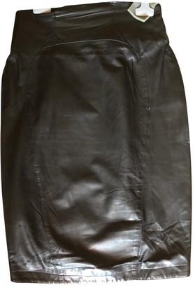 Thierry Mugler Black Leather Skirts
