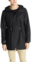 Southpole Men's Basic Solid Fish Tail Jacket In CVC Fabric