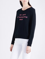 Wildfox Couture No Love No Backstage Pass fleeced stretch-jersey sweatshirt
