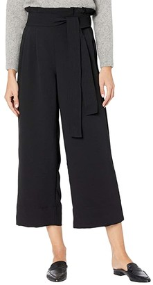 Madewell Tie Waist Huston Pants (True Black) Women's Casual Pants