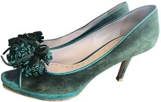Miu Miu \N Green Suede Heels