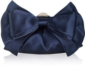 Judith Leiber Couture Madison Satin Bow Clutch Bag