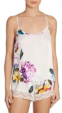 Jonquil Lace Trim Floral Print Shorts Pajama Set