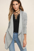 BB Dakota Patsy White and Grey Cardigan Sweater