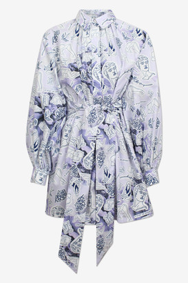 Baum und Pferdgarten Aubree Lilac Rose Tattoo Shirt Dress - sz 36 | lilac | organic cotton - Lilac