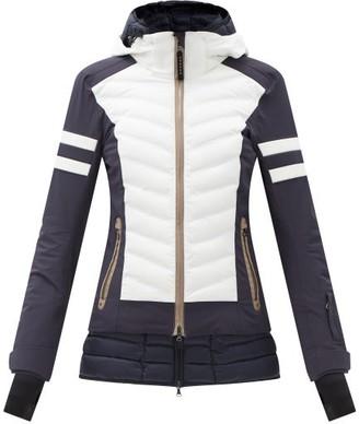 Bogner Rikela Bi-colour Quilted Shell Ski Jacket - Navy White