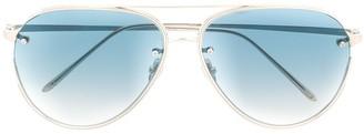 Linda Farrow Aviator-Style Sunglasses