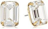 "Sorrelli Crystal"" Petite Emerald Cut Post Stud Earrings"