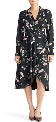 Rachel Roy COLLECTION Cascade Floral Wrap Dress