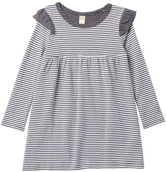 Harper Canyon Double Knit Ruffle Dress (Toddler & Little Girls)