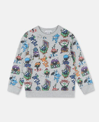 Stella Mccartney Kids Stella McCartney music monsters cotton sweatshirt