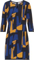 Vera Mont Graphic print crêpe dress