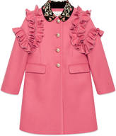 Gucci Children's wool coat with embroidery