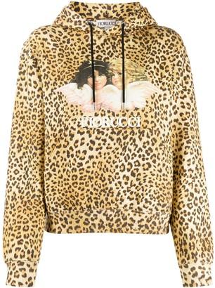 Fiorucci Vintage Angels leopard hoodie