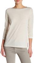 Vince Long Sleeve Striped Boatneck Shirt