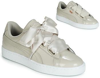 Women's gra Wn Heart ShoestrainersIn Beige Basket Patent WDHIE29